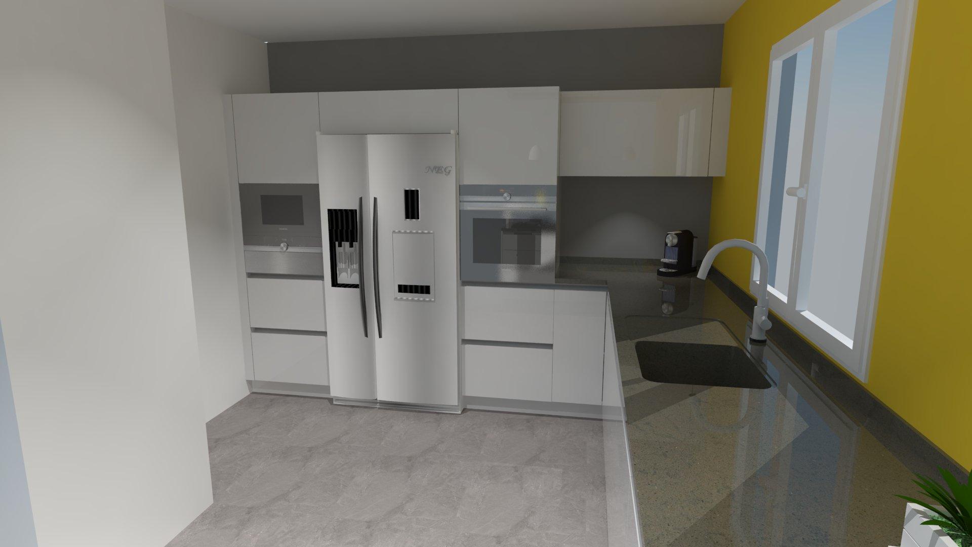 cuisine avec frigo noir solutions pour la d coration int rieure de votre maison. Black Bedroom Furniture Sets. Home Design Ideas