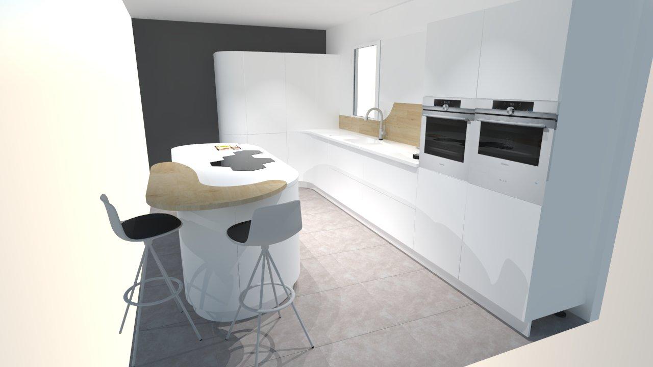 Une cuisine futuriste blanche à découvrir absolument