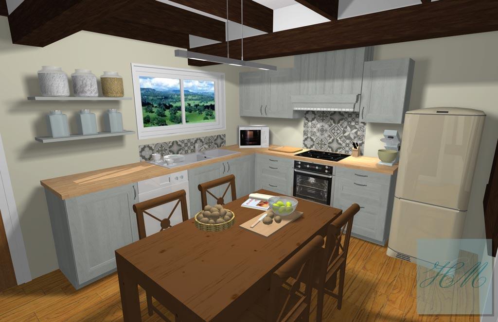 Cuisine quip e style cottage id e inspirante pour la conception de la maison for Cuisine style bord de mer