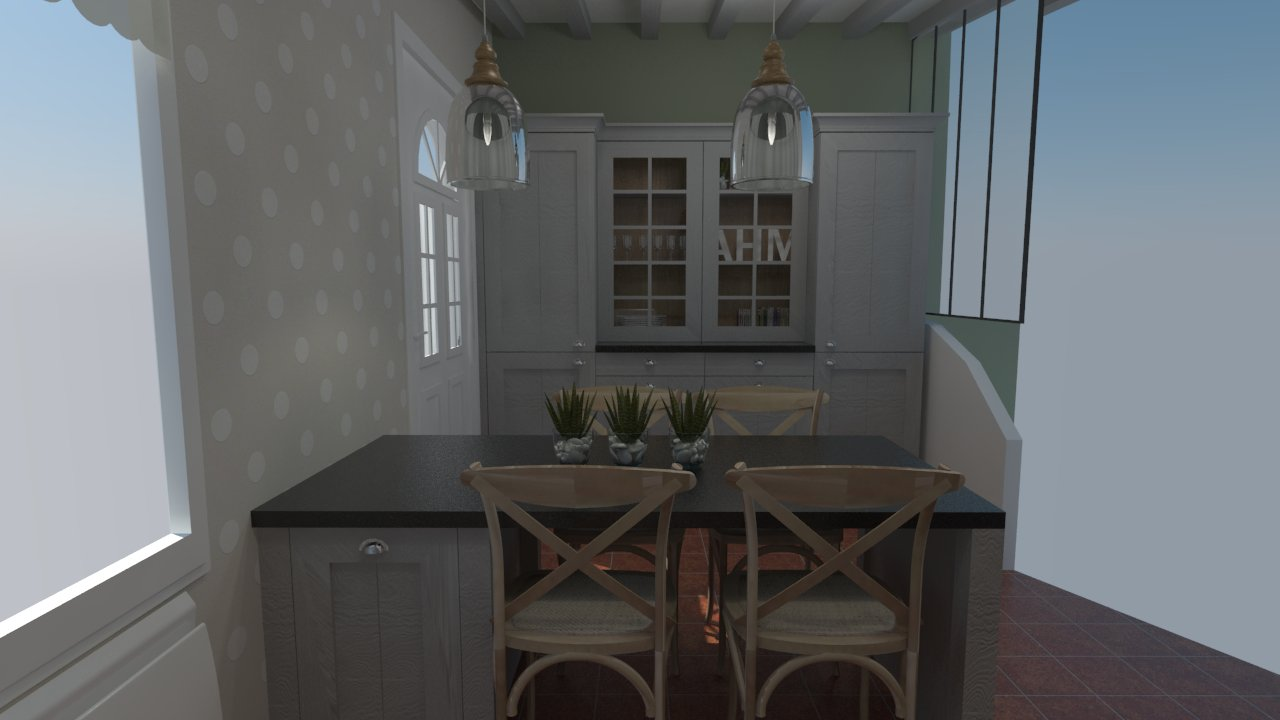 cuisine cottage anglais bois massif cuisiniste dieppe. Black Bedroom Furniture Sets. Home Design Ideas