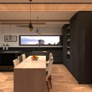 Cuisine moderne gris anthracite et bois 2