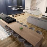 Grande cuisine salle a manger design
