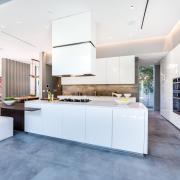 Ilot cuisine design blanche