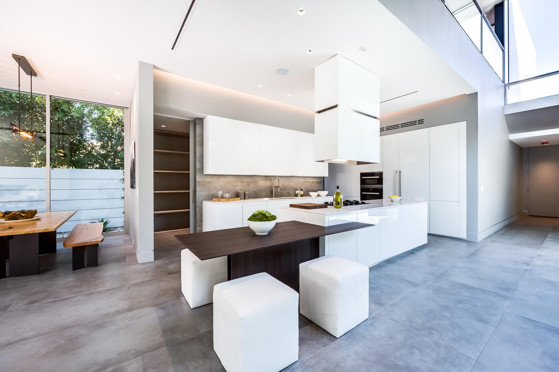 cuisine moderne blanche sans poignee maison darchitecte