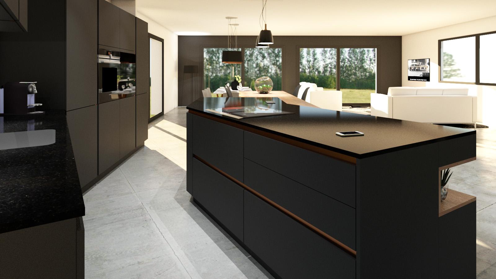 ilot design finest separation room kitchen living room ilot design with ilot design great. Black Bedroom Furniture Sets. Home Design Ideas