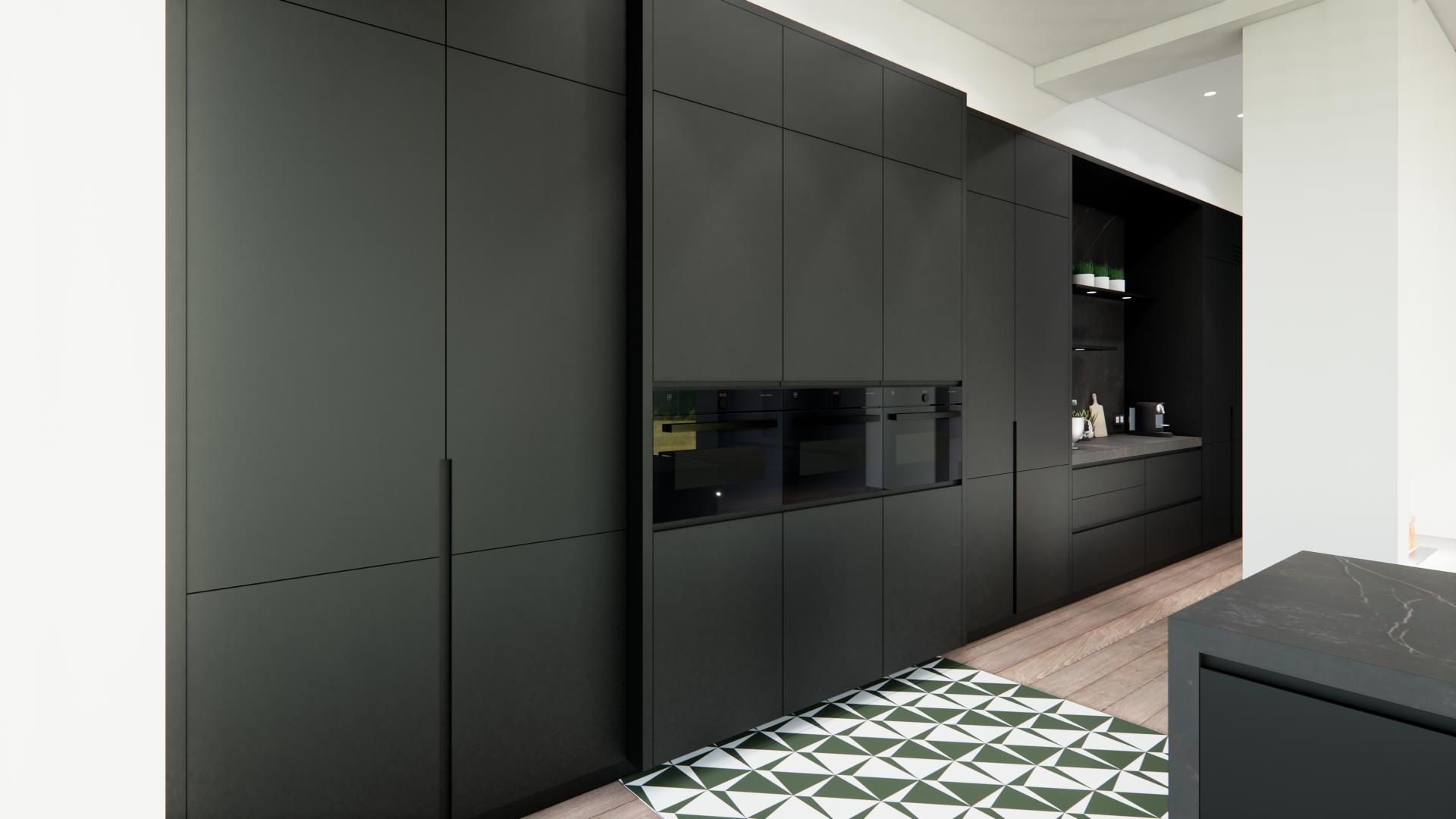 Mur d armoires cuisine haut de gamme
