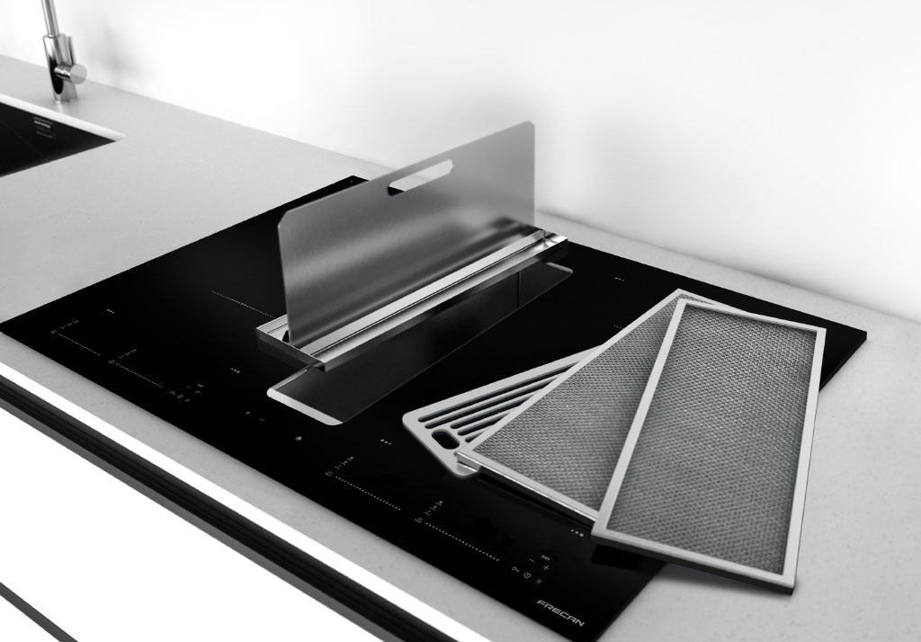 flow 3 la plus puissante hotte combin e plaque induction. Black Bedroom Furniture Sets. Home Design Ideas